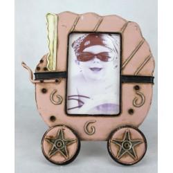 Portafotos coche rosa