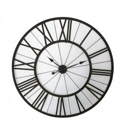 Reloj negro metal 114x114 cm