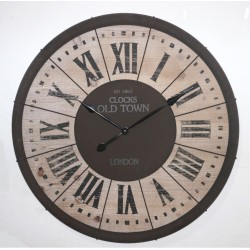 Reloj madera oscura 92x4 cm