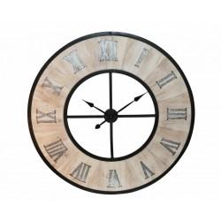 Reloj madera + negro 114x3 cm