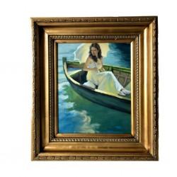 Cuadro barca señora oro...