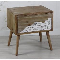 Mesita madera con blanco
