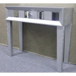 Consola plata cristal