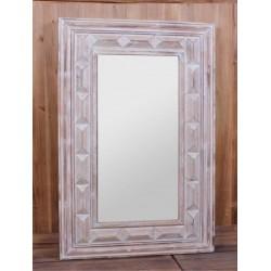 Espejo madera clara