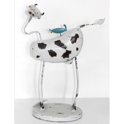 Vaca con pajarito