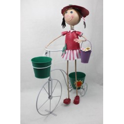 Macetero niña en bici