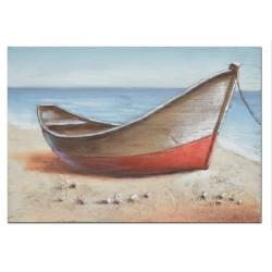 Cuadro barca roja 50x70 cm