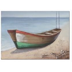 Cuadro barca rojo-verde...