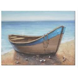 Cuadro barca azul 50x70 cm