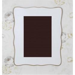 Espejo blanco ondulado