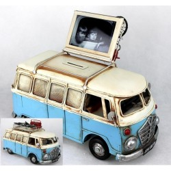 autobus azul miniatura con...