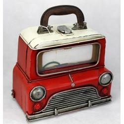 Maleta-coche animado rojo