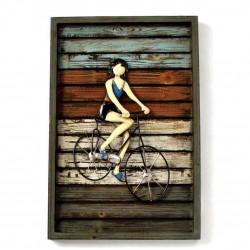 Cuadro chica bicicleta