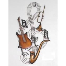 Clave de sol con instrumentos
