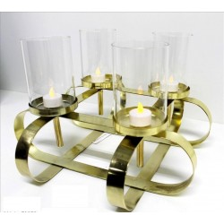 Centro de velas oro