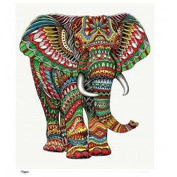 Tapiz elefante colores Gr.