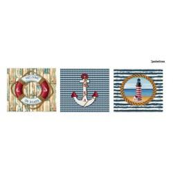 Set tres cojines Marítimos