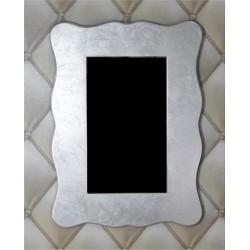 Espejo ondulado plata