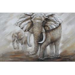 Cuadro 3D Elefante 80x120