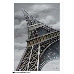 Cuadro 3D Torre Eiffel 100x150