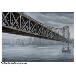Cuadro 3D Puente Ciudad...