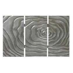 Cuadro Triptico Flor 90x60