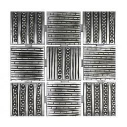 Cuadro Relieve plata 62x62