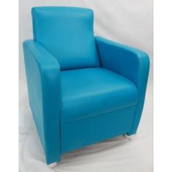 Sillón butaca color azul