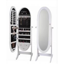 Joyero vestidor ovalado blanco