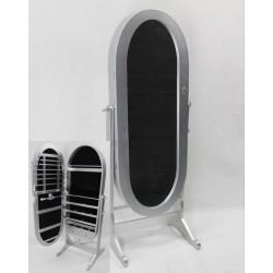 Joyero vestidor ovalado plata